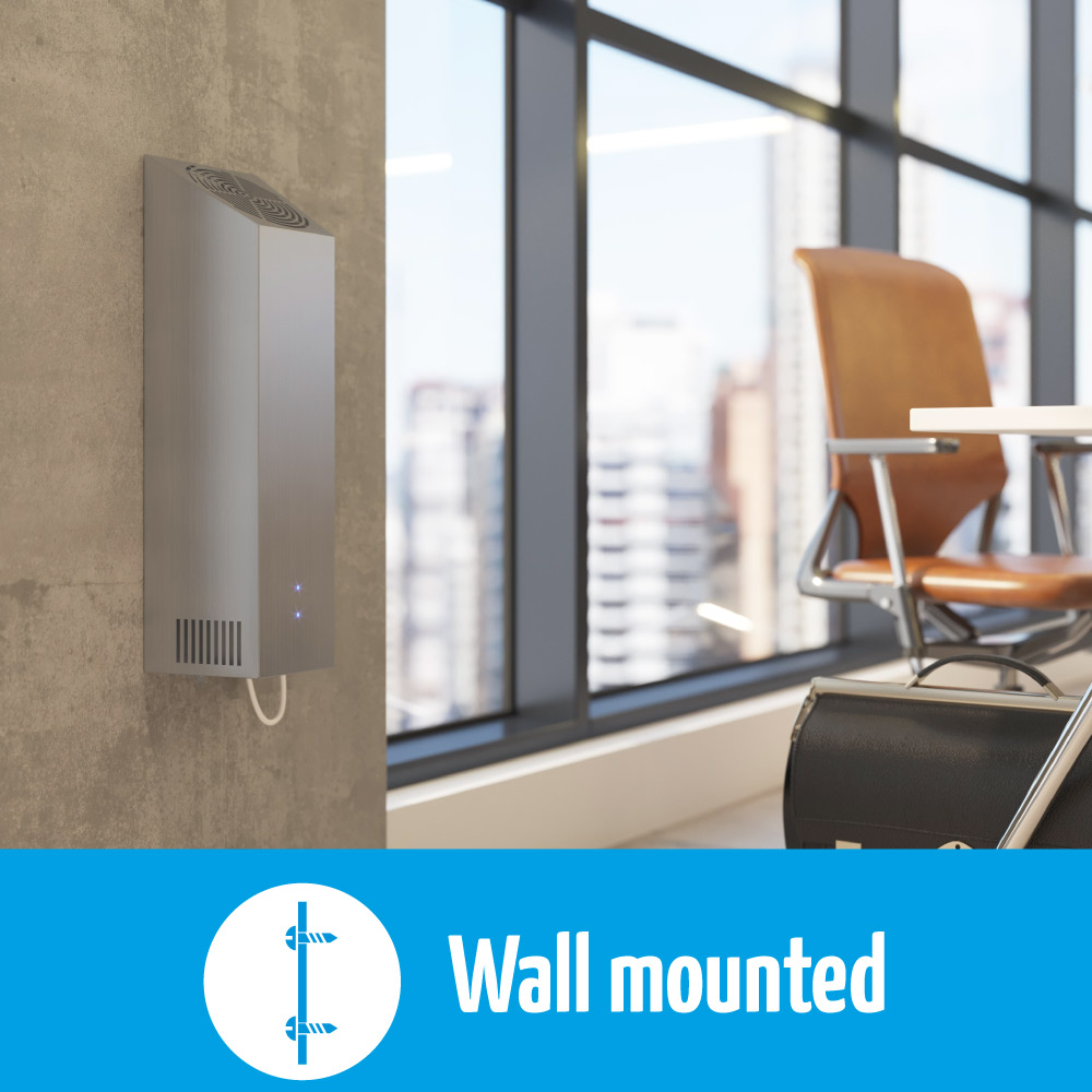 airfree wm has a wall mounted design