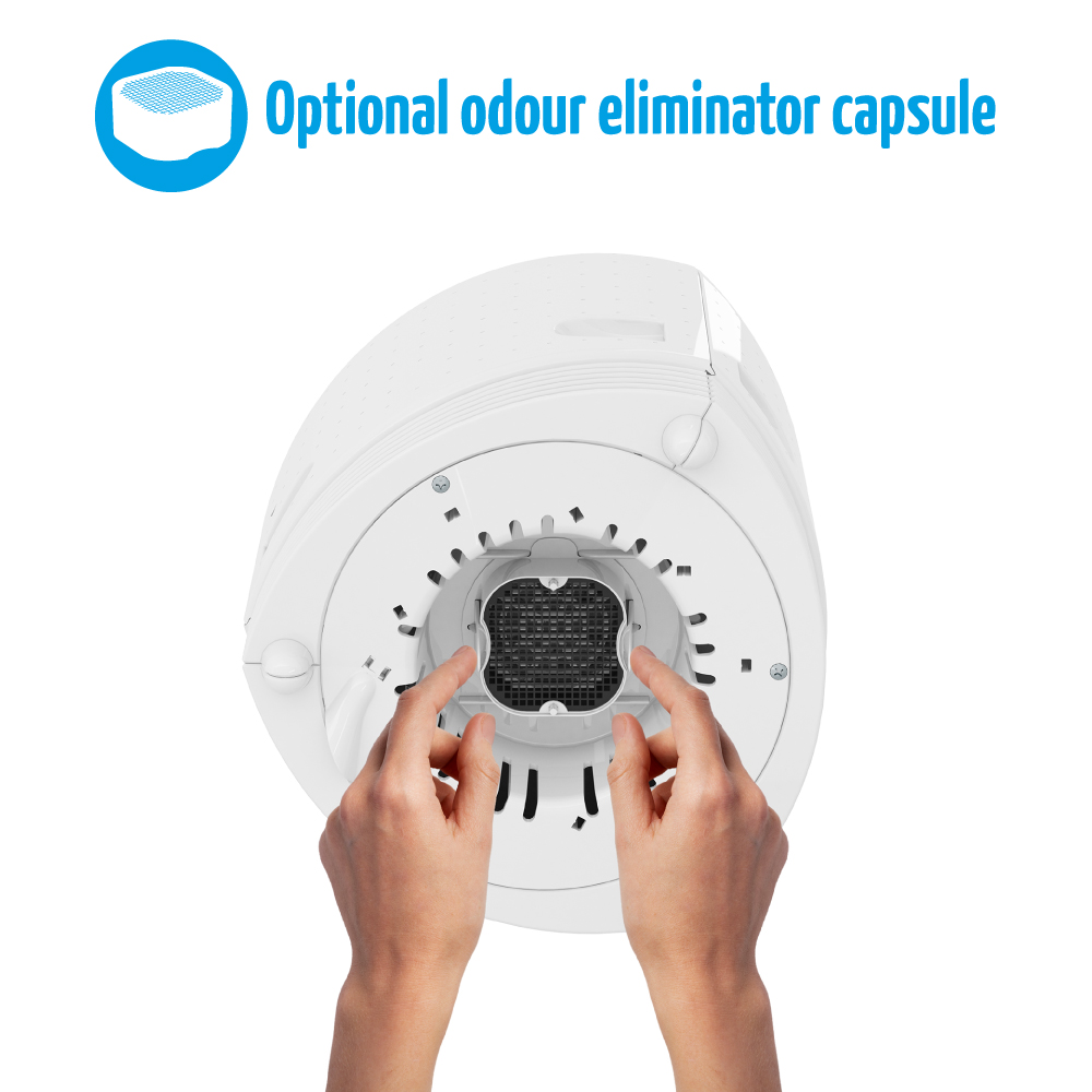 airfree duo has an optional odour eliminator capsule