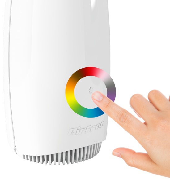 Completely silent Airfree Babyair with multicolored nightlight