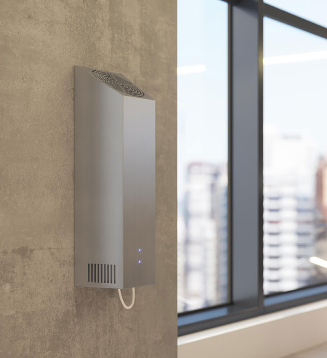 Airfree WM offers a wall-mounted design